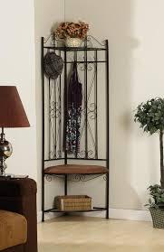 amazon com kings brand black metal corner entryway hallway rack