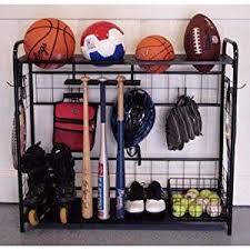 Ball Organizer Garage - amazon com sports organizer hang bats store balls store outdoor
