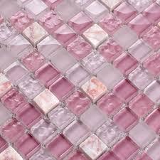 Stone Glass Tile Backsplash by Light Purple Stone And Glass Mosaic Tile Square Bathroom Wall Decor