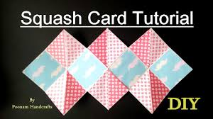 squash card easy tutorial diy squash card for scrapbook