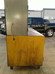 vintage custom 8 u0027 steel workbench w lower u0026 upper cabinets huge