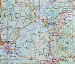Map Of Bangladesh Map Of Bangladesh U0026 India East Itm U2013 Mapscompany