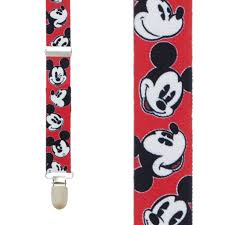 Mickey Mouse Flag Mickey Mouse Suspenders Novelty Disney Suspenders