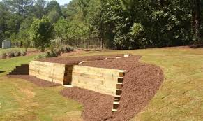 Pictures Of Retaining Wall Ideas by Landscape Timber Retaining Wall Steps Landscape Timber Retaining