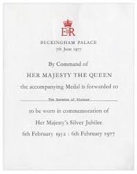Silver Jubilee Card Invitation Lot Detail Duchess Of Windsor Personally Owned Medallion