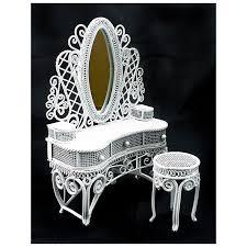 Wire Desk Chair Wire Makeup Desk Chair Dollhouse Furniture Set