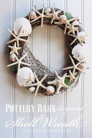 40 home decor diy projects for summer shell wreath pottery barn