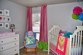 Pink And Brown Curtains For Nursery by Studio 7 Interior Design Client Reveal Colorful Nursery