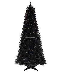 collapsible christmas tree 180cm slim black tree with led lights artificial black