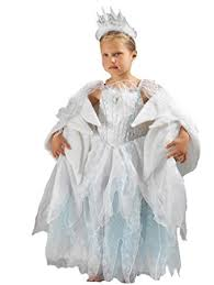 Snow Queen Halloween Costume Narnia White Witch Snow Queen Fancy Dress Costume 5 6