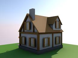 low poly simple house small 3d asset cgtrader