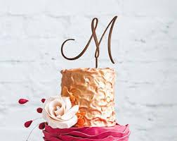 m cake topper m cake topper etsy
