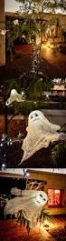 ghosts made from ping pong balls cheesecloth mod podge and solar