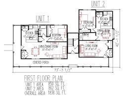 duplex house plans floor plan 2 bed 2 bath duplex house duplex plans 3 unit 2 floors 3 bedroom 3 bath front porch 2700 sq ft