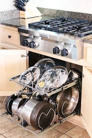 Organizing Pots And Pans In Kitchen Cabinets Kitchen Cabinet Pots And Pans Organization Kevin Amanda Food