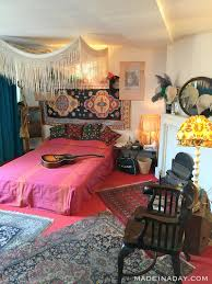 boho living room makeover pop of color with world market made