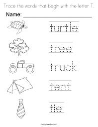 letter t words format
