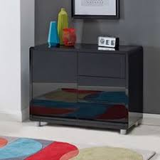 Small Black Gloss Sideboard Marina 8729 2 Modern Tv Cabinet In Black And White Bdi Home