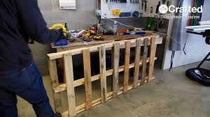 Outdoor Pallet Table How To Build An Outdoor Dining Table From Pallet Wood U2014 Crafted