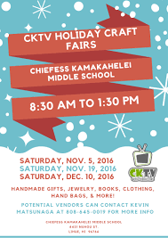 cktv holiday craft fairs kauai com events calendar