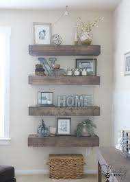 Diy Reclaimed Wood Floating Shelf by Diy Floating Shelves With And Pulley Free Plans Pulley