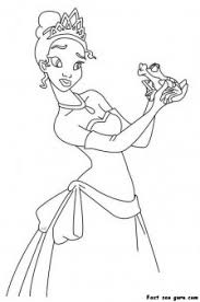 print out a the princess and the frog coloring page printable