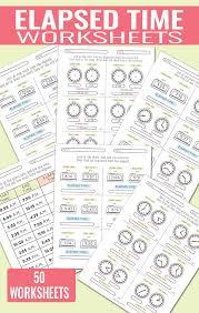 elapsed time worksheets easy peasy learners