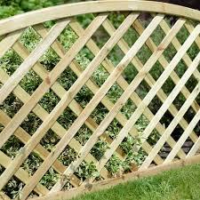 grange madeley convex trellis panels 0 8m internet gardener