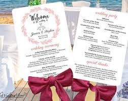 wedding fan program wedding program fan etsy