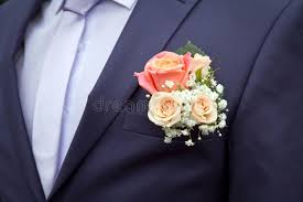 groom s boutonniere groom s boutonniere of roses stock image image of