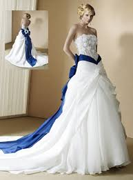 wedding dress colors wedding dresses with blue trim reviewweddingdresses net
