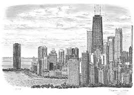 chicago skyline drawings and paintings by stephen wiltshire mbe