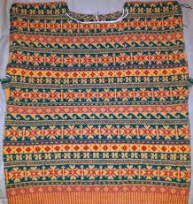 traditional fair isle patterned gansey this knits