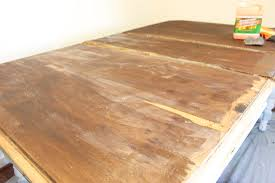 how to wood veneer furniture how not to refinish your dining table checking in with chelsea