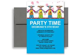 birthday invitation template word wblqual com