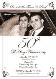wedding anniversary program creative chicken 50th wedding annversary