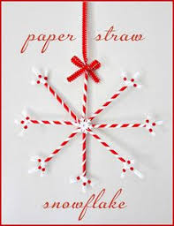 unify handmade how to make paper straw snowflake ornaments