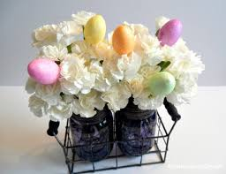 jar floral centerpieces easy to make whimsical farmhouse style easter centerpiece an