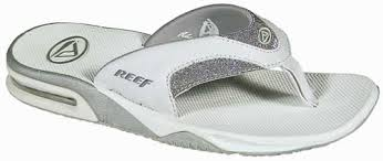 reef fanning flip flops womens reef fanning women s sandal white silver for sale at surfboards