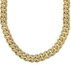 yellow jewelry necklace images Diamond johnny 39 s diamond men 39 s diamond cuban link chain yellow gold jpg