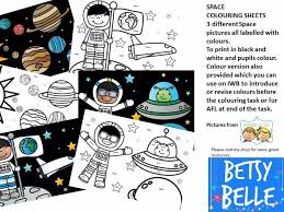 colouring sheets space betsybelleteach teaching resources tes
