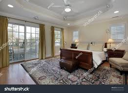master bedroom tray ceiling deck view stock photo 83241568 master bedroom with tray ceiling and deck view