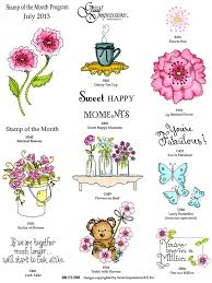 flower of the month great impressions sts july 2013 st of the month