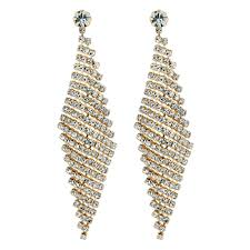 chandelier earings jon richard gold diamante chandelier earring