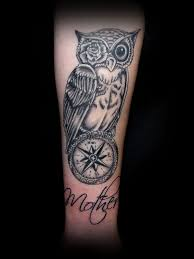 owl compass by taigeri on deviantart tattoo ideas pinterest