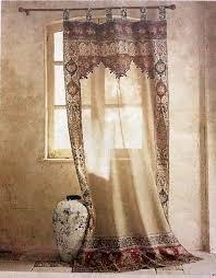 Sari Fabric Curtains Help The Saree Curtain That Got Away Nomadic Decorator