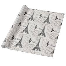 eiffel tower wrapping paper wrapping paper zazzle