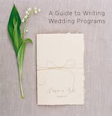 how to write a wedding program wedding program wording wedding ideas oncewed