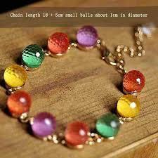 bracelet color crystal images Colorful candy color crystal beads gold plated adjustable bangle jpg