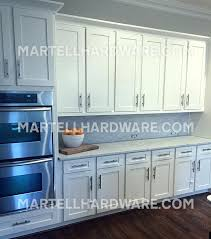 Brushed Nickel Kitchen Cabinet Hardware Custom Shaker Cabinet Style Kitchen Featuring Brushed Nickel